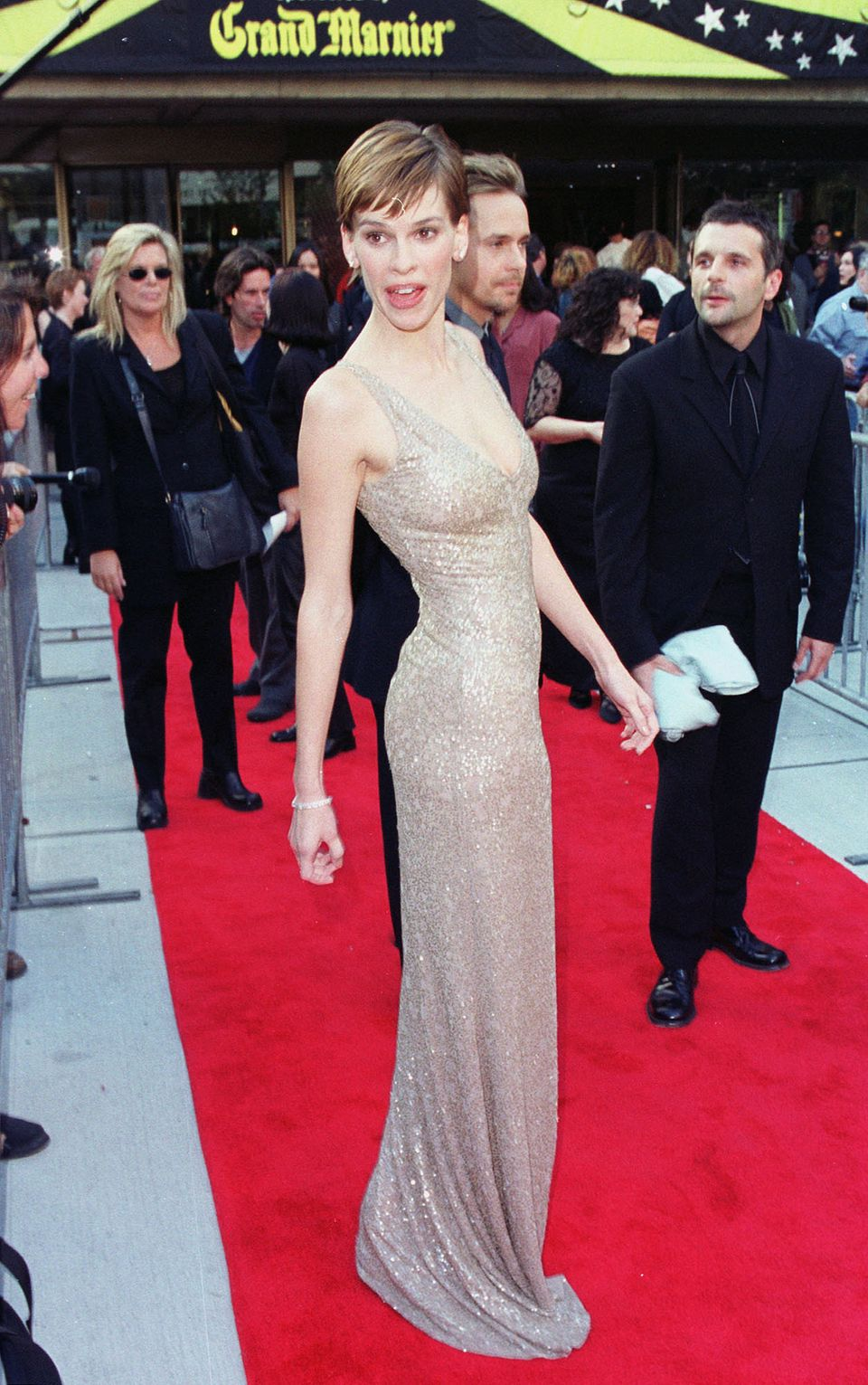 Hilary Swank attends the premiere in 1999.