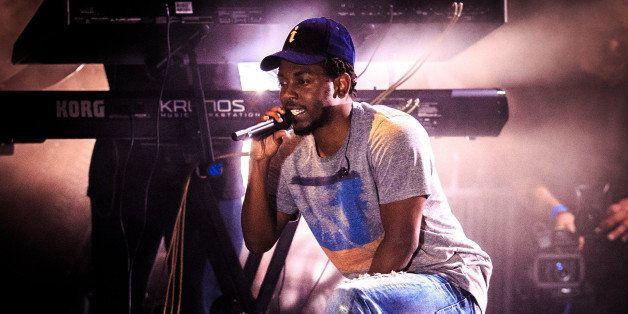 FAJARDO, CA - NOVEMBER 01:  Kendrick Lamar performs during the Bacardi Triangle event on November 1, 2014 in Fajardo, Puerto