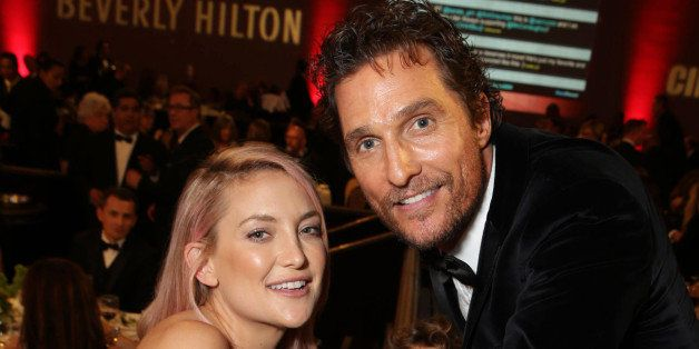 EXCLUSIVE - Kate Hudson, Levi Alves McConaughey and Matthew McConaughey seen at the 28th Annual American Cinematheque Awards