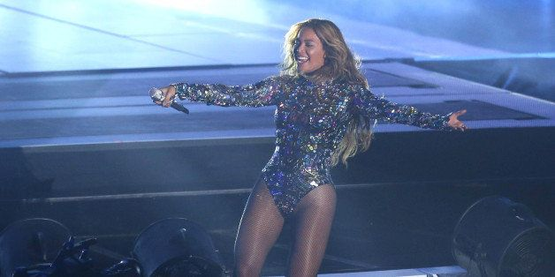 Beyonce performs on stage at the MTV Video Music Awards at The Forum on Sunday, Aug. 24, 2014, in Inglewood, Calif. (Photo by