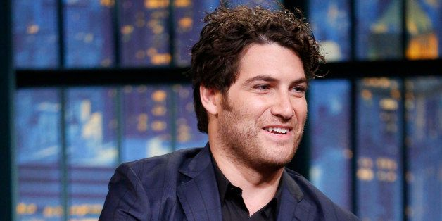 LATE NIGHT WITH SETH MEYERS -- Episode 098 -- Pictured: Actor Adam Pally during an interview on September 17, 2014 -- (Photo