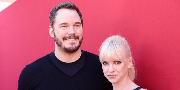"""Actor Chris Pratt and his wife, actress Anna Faris seen at the premiere of the feature film """"The Lego Movie"""" on Saturday, Feb"""