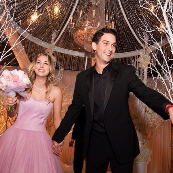 """The """"Big Bang Theory"""" star tied the knot with her tennis pro beau on New Year's Eve 2013-2014."""