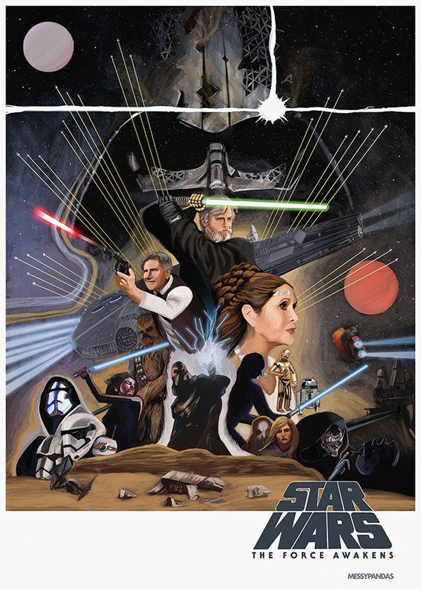 """<a href=""""http://messypandas.deviantart.com/art/Star-Wars-The-Force-Awakens-2-494154175"""" target=""""_blank"""">Art</a> by <a href=""""h"""