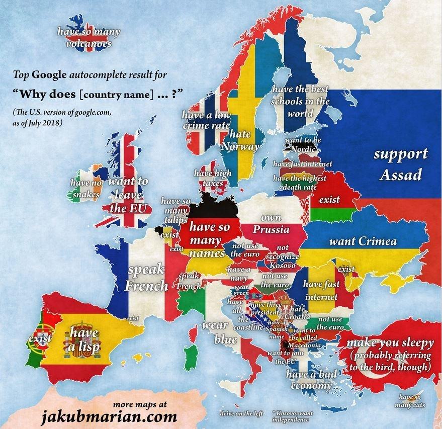 «Γιατί η Πορτογαλία υπάρχει;» και άλλες δημοφιλείς ερωτήσεις Αμερικανών στο Google για χώρες της Ευρώπης