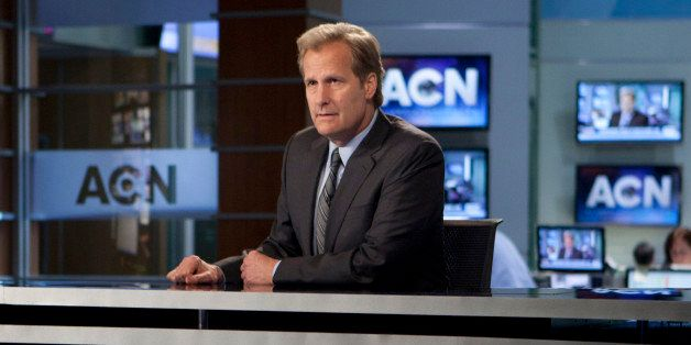 "This image released by HBO shows Jeff Daniels in a scene from the HBO original series, ""The Newsroom.""  HBO announced Monday,"
