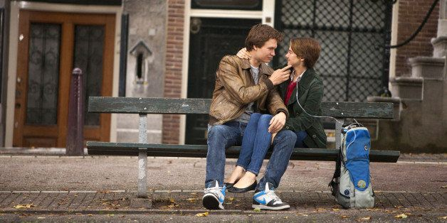 "This image released by 20th Century Fox shows Ansel Elgort, left, and Shailene Woodley appear in a scene from ""The Fault In O"