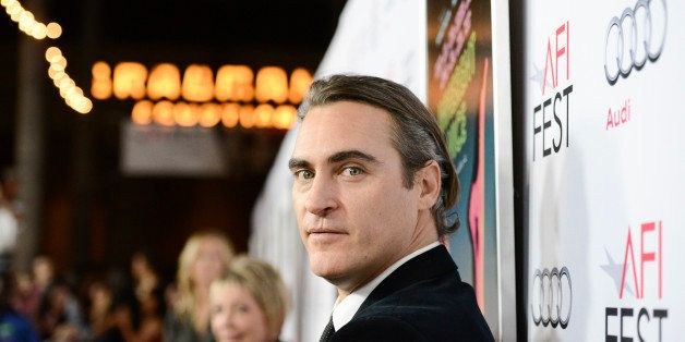 "Actor Joaquin Phoenix attends the gala screening of the feature film ""Inherent Vice"" during the 2014 AFI Fest at The Egyptian"