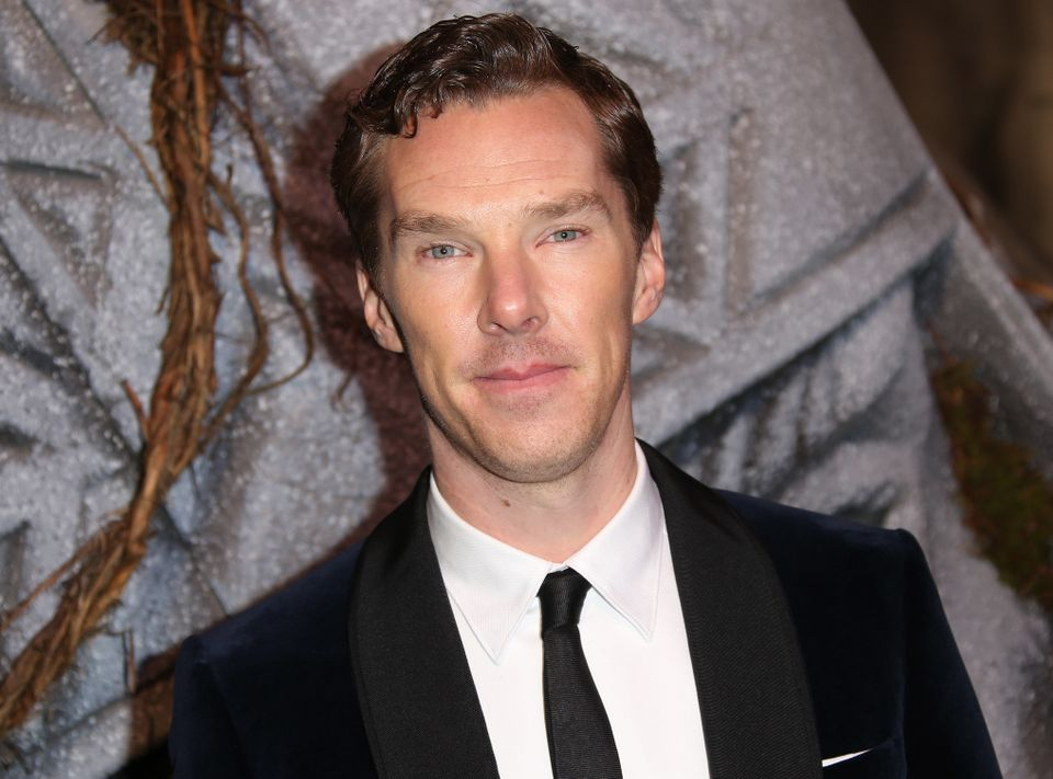Actor Benedict Cumberbatch poses for photographers upon arrival at the World premiere of the film The Hobbit, The Battle of t