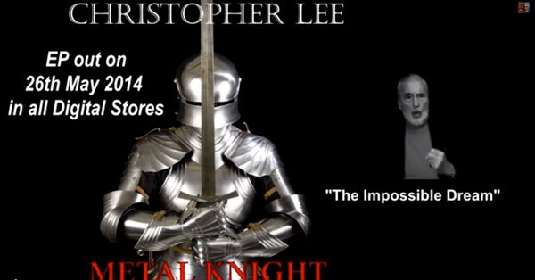 "Christopher Lee releases new album""Metal Knight"""