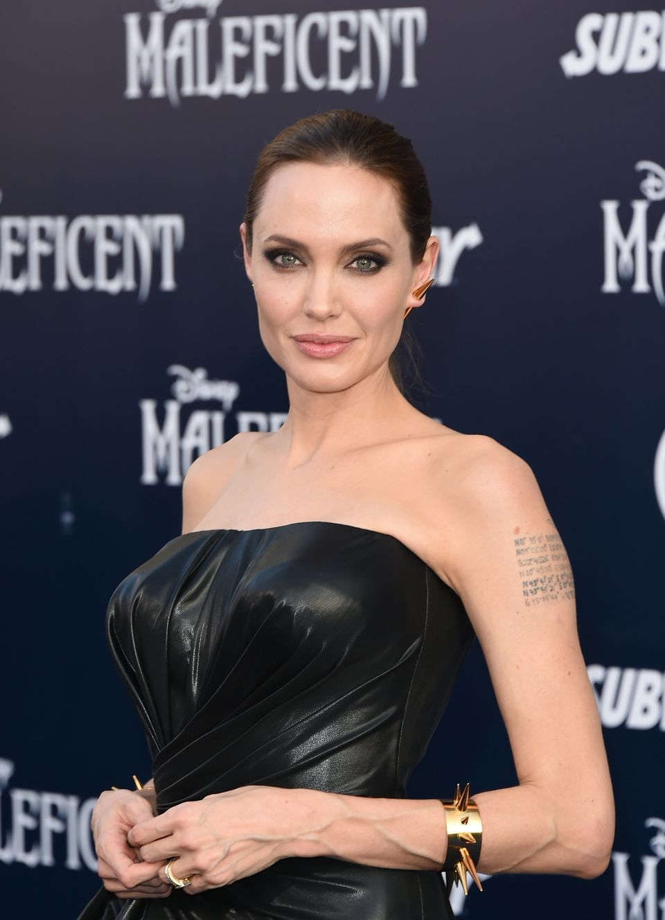 HOLLYWOOD, CA - MAY 28:  Actress Angelina Jolie attends the World Premiere of Disney's 'Maleficent' at the El Capitan Theatre