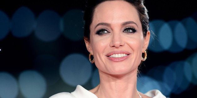 LONDON, ENGLAND - NOVEMBER 25:  Angelina Jolie attends the UK Premiere of 'Unbroken' at Odeon Leicester Square on November 25