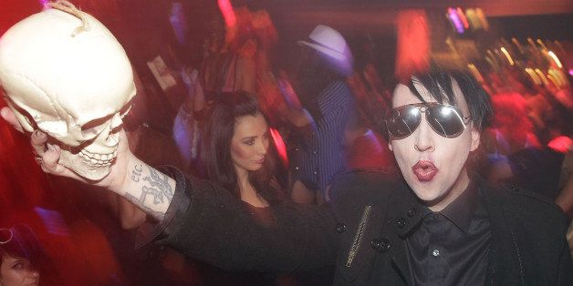LAS VEGAS, NV - OCTOBER 29:  Marilyn Manson hosts a Halloween bash at Hyde Bellagio at the Bellagio on October 29, 2013 in La