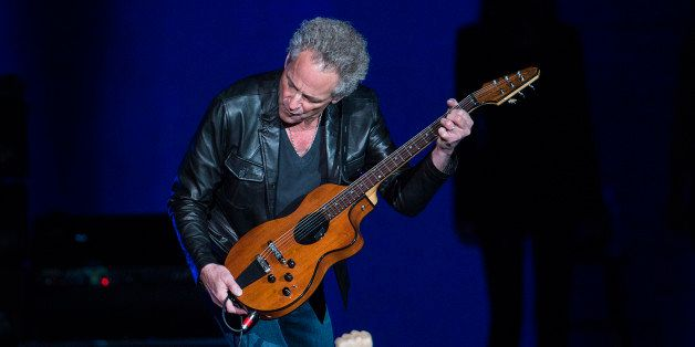 DENVER, CO - DECEMBER 12: Lindsey Buckingham of Fleetwood Mac performs during the band's 'On With The Show' tour at the Pepsi