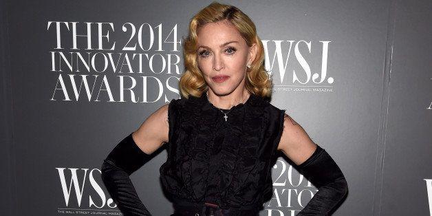 NEW YORK, NY - NOVEMBER 05:  Madonna attends WSJ. Magazine 2014 Innovator Awards at Museum of Modern Art on November 5, 2014