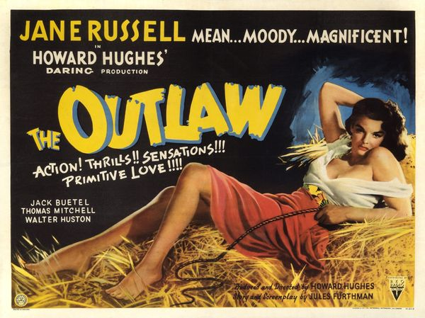 "Howard Hughes had already cut or re-edited a reported 37 scenes from ""The Outlaw"" because the Hays office <a href=""http://www"