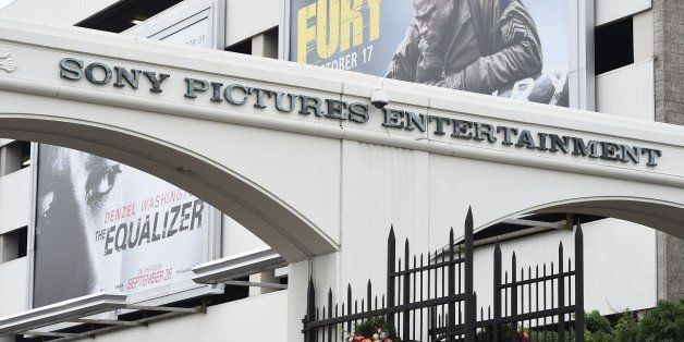 The entrance of Sony Pictures Studios in Culver City, California is seen December 16, 2014.   'Guardians of Peace' hackers in