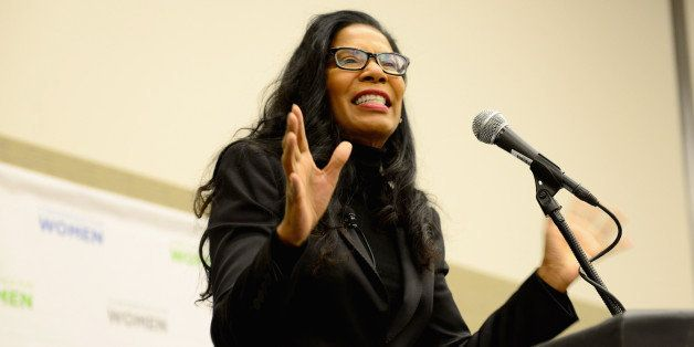 BOSTON, MA - DECEMBER 04:  Founder and President of Smith & Company, Judy Smith speaks on stage at the 2014 Massachusetts Con