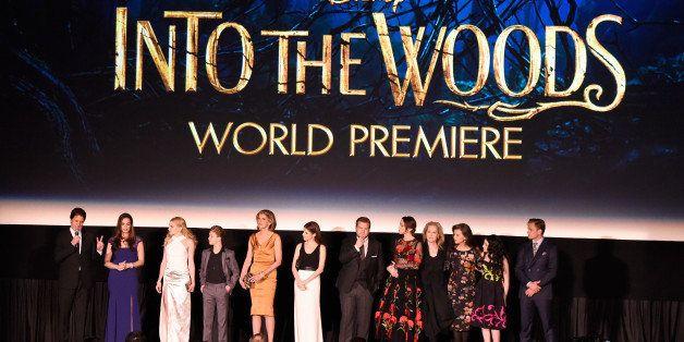 NEW YORK, NY - DECEMBER 08:  Director Rob Marshall introduces Tammy Blanchard, MacKenzie Mauzy, Daniel Huttlestone, Christine