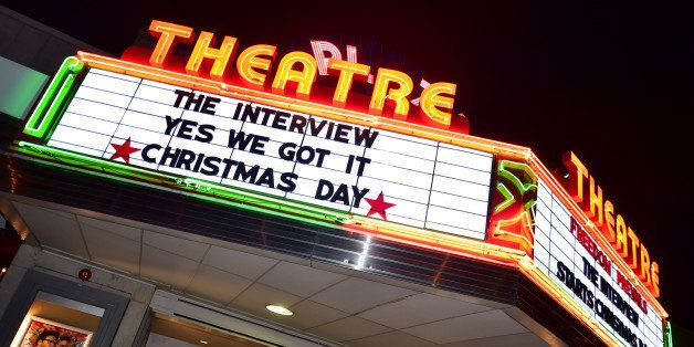 ATLANTA, GA - DECEMBER 25: General view of Sony Pictures' release of 'The Interview' at the Plaza Theater on, Christmas Day,