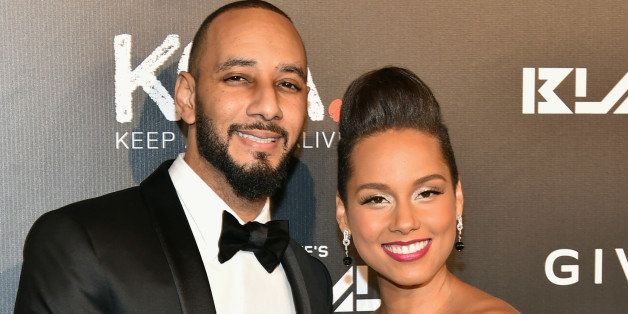 NEW YORK, NY - OCTOBER 30:  Musicians Swizz Beats (L) and Alicia Keys attend Keep A Child Alive's 11th annual Black Ball at H