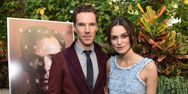 """EXCLUSIVE - Benedict Cumberbatch and Keira Knightley attend The Weinstein Company """"The Imitation Game"""" brunch on Sunday, Nov."""