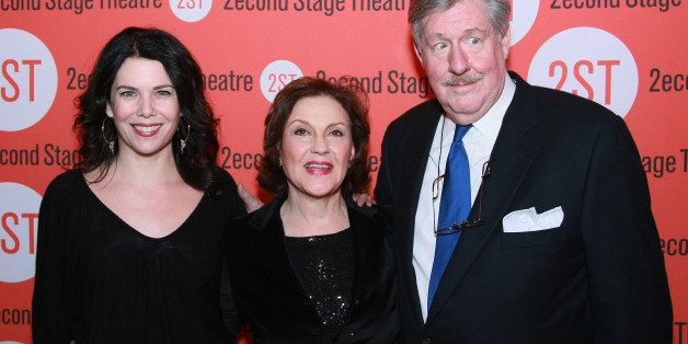 NEW YORK - JANUARY 08:  (L-R) Actors Lauren Graham, Kelly Bishop and Edward Herrmann attend the opening night after party for