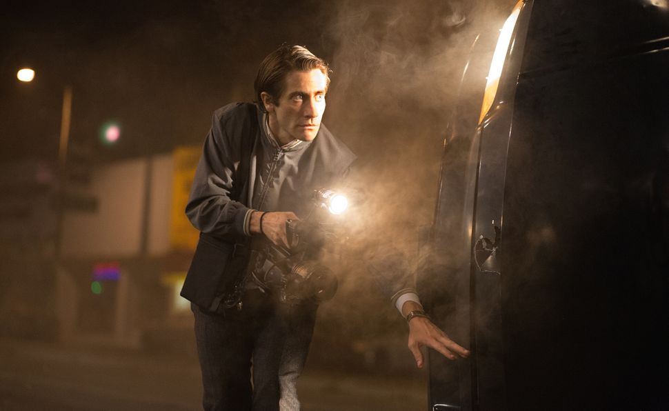 """""""Nightcrawler"""" is far from a conventional Best Picture nominee -- it's about a striving sociopath who winds up, in essence, g"""