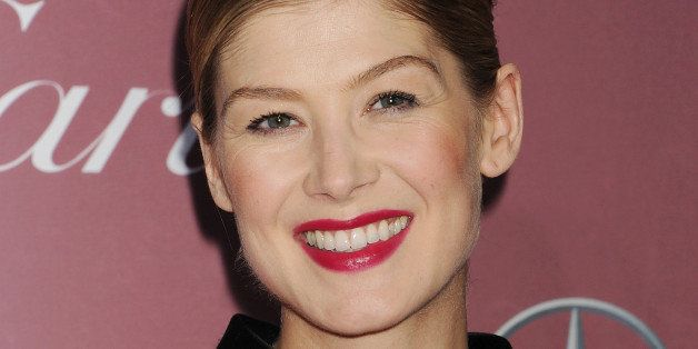 PALM SPRINGS, CA - JANUARY 03: Actress Rosamund Pike attends the 26th Annual Palm Springs International Film Festival Awards