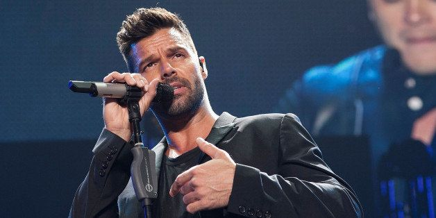 INGLEWOOD, CA - NOVEMBER 22:  Ricky Martin performs at iHeartRadio Fiesta Latina Music Festival - Show at The Forum on Novemb