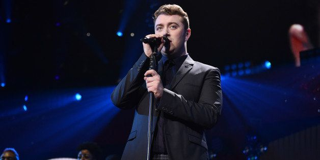 Sam Smith performs at the KIIS FM's Jingle Ball at the Staples Center on Friday, Dec. 5, 2014, in Los Angeles. (Photo by John
