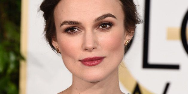 Keira Knightley arrives at the 72nd annual Golden Globe Awards at the Beverly Hilton Hotel on Sunday, Jan. 11, 2015, in Bever