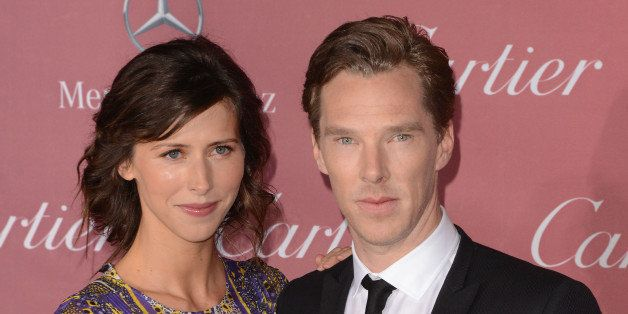 PALM SPRINGS, CA - JANUARY 03: Actors Sophie Hunter (L) and Benedict Cumberbatch attend the 26th Annual Palm Springs International Film Festival Film Festival Awards Gala at Parker Palm Springs on January 3, 2015 in Palm Springs, California. (Photo by C Flanigan/Getty Images)