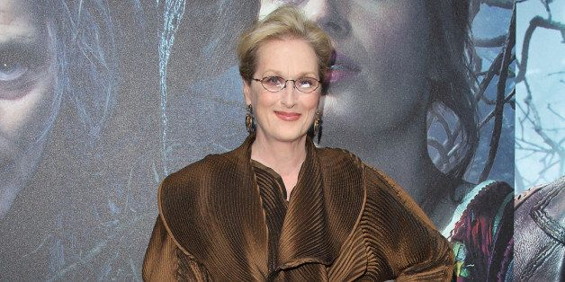 LONDON, ENGLAND - JANUARY 07:  Meryl Streep attends the gala screening of 'Into The Woods' at The Curzon Mayfair on January 7