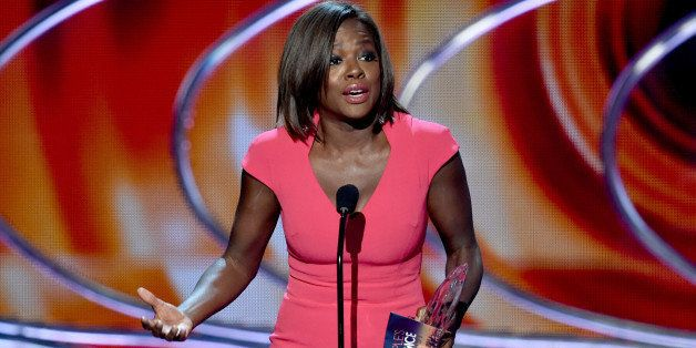 LOS ANGELES, CA - JANUARY 07:  Actress Viola Davis accepts the Favorite Actress In A New TV Series award onstage at The 41st