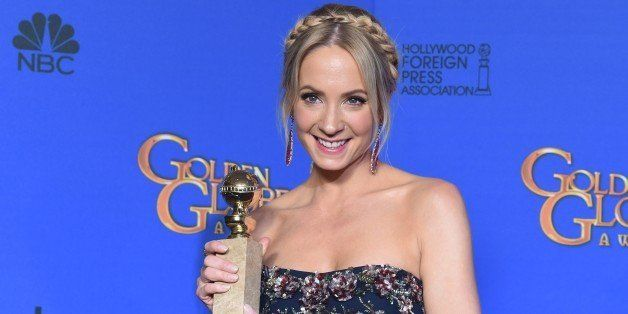 Actress Joanne Froggatt holds the award for Best Supporting Actress - Series/Mini-Series/TV Movie 'Downtown Abbey', in the pr