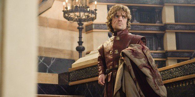 """This publicity image released by HBO shows Peter Dinklage in a scene from """"Game of Thrones.""""  Dinklage was nominated for an E"""