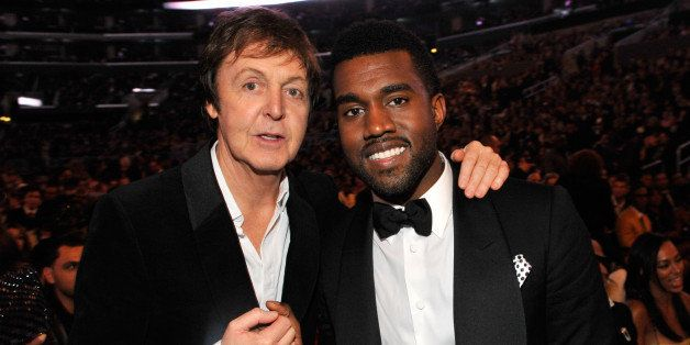 (EXCLUSIVE, Premium Rates Apply) LOS ANGELES, CA - FEBRUARY 08:  *EXCLUSIVE* Sir Paul McCartney and Kanye West at the 51st An