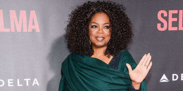 NEW YORK, NY - DECEMBER 14:  Actress Oprah Winfrey enters the 'Selma' New York Premiere at the Ziegfeld Theater on December 1