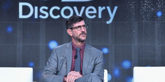 PASADENA, CA - JANUARY 08:  Rich Ross, President, Discovery Channel speak onstage at Discovery Communications TCA Winter 2015