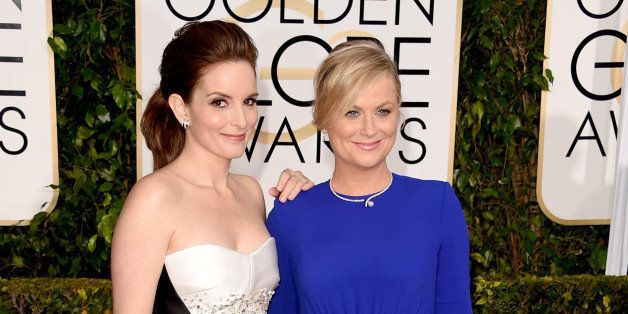 BEVERLY HILLS, CA - JANUARY 11:  Golden Globes Hosts and Actresses Tina Fey and Amy Poehler attend the 72nd Annual Golden Glo