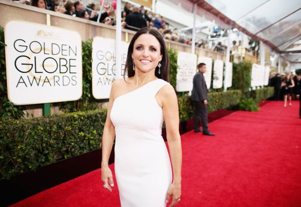 BEVERLY HILLS, CA - JANUARY 11:  72nd ANNUAL GOLDEN GLOBE AWARDS -- Pictured: Actress Julia Louis-Dreyfus arrives to the 72nd