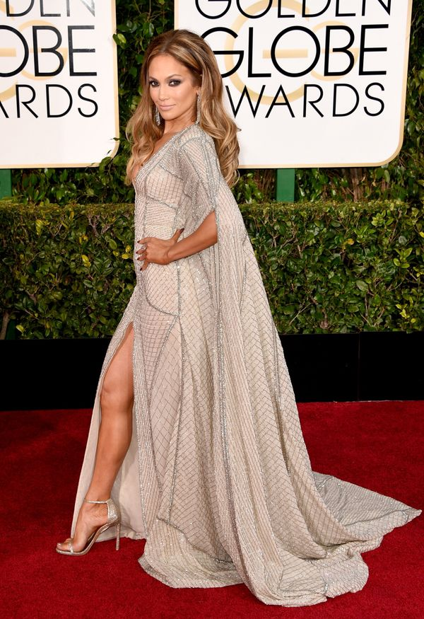 BEVERLY HILLS, CA - JANUARY 11: Actress Jennifer Lopez attends the 72nd Annual Golden Globe Awards at The Beverly Hilton Hote