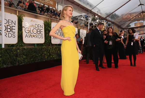 BEVERLY HILLS, CA - JANUARY 11:  72nd ANNUAL GOLDEN GLOBE AWARDS -- Pictured: Actress Naomi Watts arrives to the 72nd Annual