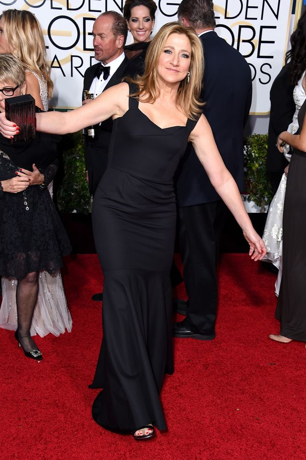 BEVERLY HILLS, CA - JANUARY 11:  Actress Edie Falco attends the 72nd Annual Golden Globe Awards at The Beverly Hilton Hotel o