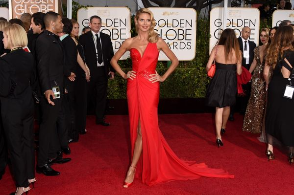 BEVERLY HILLS, CA - JANUARY 11:  TV Personality Heidi Klum attends the 72nd Annual Golden Globe Awards at The Beverly Hilton