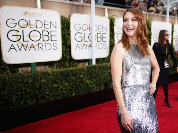 BEVERLY HILLS, CA - JANUARY 11:  72nd ANNUAL GOLDEN GLOBE AWARDS -- Pictured: Actress Julianne Moore arrives to the 72nd Annu