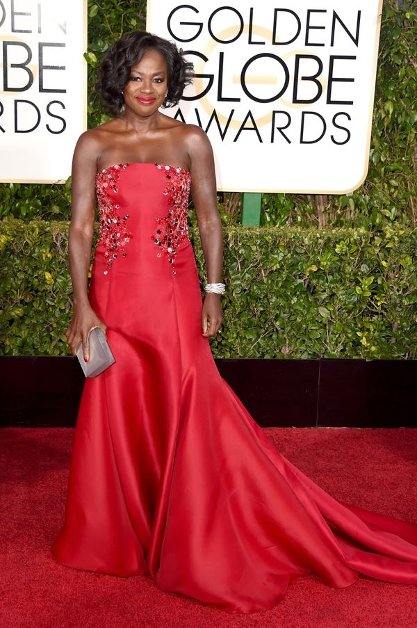 BEVERLY HILLS, CA - JANUARY 11: Actress Viola Davis attends the 72nd Annual Golden Globe Awards at The Beverly Hilton Hotel o