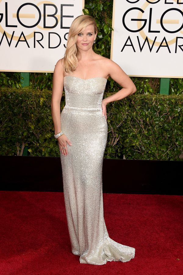 BEVERLY HILLS, CA - JANUARY 11: Actress Reese Witherspoon attends the 72nd Annual Golden Globe Awards at The Beverly Hilton H