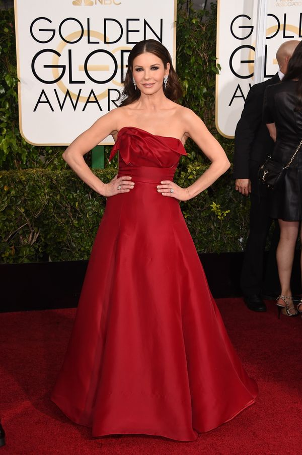 BEVERLY HILLS, CA - JANUARY 11:  Actress Catherine Zeta-Jones attends the 72nd Annual Golden Globe Awards at The Beverly Hilt
